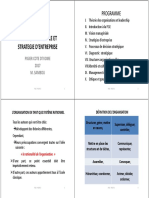 1 PGSE - THEORIE DES ORGANISATIONS