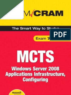 MCTS 70-643 Exam Cram Windows Server 2008 Applications