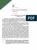 A história de fundação de Ribeirão preto
