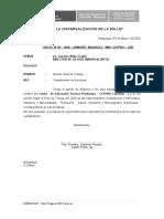OF. N 10 INFORME DE ASISTENCIA