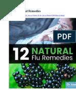 12 Flu Natural Remedies