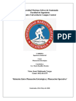 Relación Entre Planeación Estratégica y Planeación Operativa