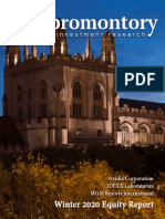 Promontory Investment Research Winter 2020 Publication