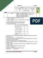 TALLER 4 - TEORÍA ATÓMICA DE DALTON -  PESO MOLECULAR -  NÚMERO DE AVOGADRO - COMPOSICIÓN CENTESIMAL Y LAS FÓRMULAS  EMPÍRICA Y VERDADERA - COMPOSICIÓN PORCENTUAL - MOL - GRAMOS -