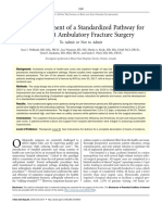 The Development of a Standardized Pathway for Outpatient Ambulatory Fracture Surgery