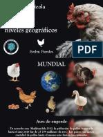 Población y producción avícola en distintos niveles geográficos