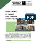 PTS 008 - PARA FAENAS DE HORMIGONADO