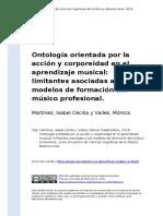 3. Martinez, Isabel Cecilia y Valles, Mo (..) (2013). Ontologia orientada por la accion y corporeidad en el aprendizaje musical limitantes a (..)