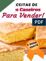 5 receitas de bolos caseiros