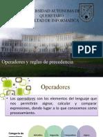 capitulo 5 Operadores y reglas de precedencia