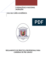 REGLAMENTO DE PRÁCTICA PROFESIONAL