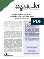 Peter Brooks y Ji Hye Shin:China's Influence in Africa