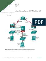 10.3.1.1 Lab - Configure Clientless Remote Access SSL VPNs Using ASA 5505 ASDM.docx