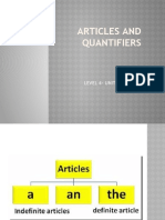ARTICLES AND QUANTIFIERS
