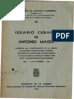Ideario Cubano Antonio Maceo