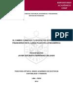 Efectos Economicos del cambio climatico Peru