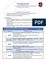 PLAN DE APRENDIZAJE EN CASA 6-A