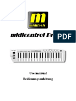 Bedienungsanleitung Midi Control Pro 49 D E Final