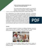 Actividades Primer Semestre Cultura Caracolí