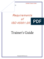 Requirements of ISO 45001-Sample