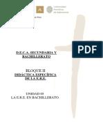 SEC - UD 05 - La E.R.E. en Bachillerato