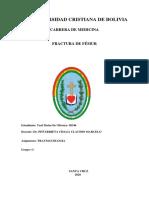 Trabajo de Investigación Traumatologia. Yuri Matos de Oliveira - 58346