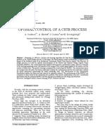 OPTIMAL CONTROL OF A CSTR PROCESS