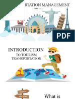 Tourism Transportation Management (Prelim) i. Introduction