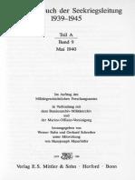 Kriegstagebuch Der Seekriegsleitung 1939 - 1945. - Teil a ; Band 9. Mai 1940
