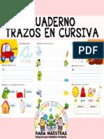 Cuaderno de Trazos en Cursiva por Materiales Educativos Maestras