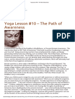 Yoga Lesson #10 – The Path of Awareness _