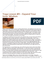Yoga Lesson #9 – Expand Your Inner Wisdom _