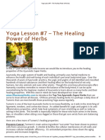 Yoga Lesson #7 – The Healing Power of Herbs _