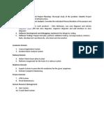 Practical Lab List