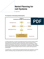 Strategic Market Planning for Public Transit Systems