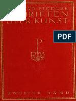 Fiedler - Schriften über Kunst