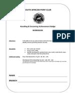 handling grooming workbook