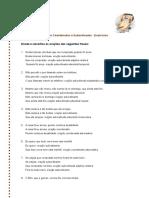 orações coordenadas e subordinadas - exerc. IX _correção