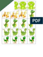Formează mulțimi cu dinozauri de același fel