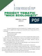 proiect tematic micii ecologisti patrascu viorica