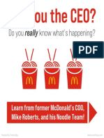 Learn from McDonalds Noodle Team