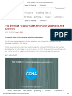 Top 50 most popular CCNA Interview Questions and Answers