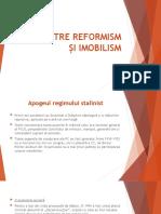 URSS între reformism și imobilism