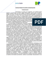 POSTDOCTORADO FILOSOFÍA E INVESTIGACIÓN UNEY