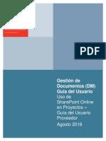 SPO Guía del Usuario - Proveedores