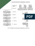 Табл 18. Форма подготовки кромок свар элементов