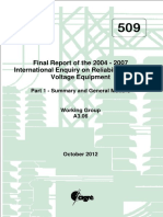 509 International Enquiry on Reliability of High Voltage Equipment Part 1 - Summary and General Matters