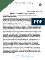 Durham Constabulary Press Statement