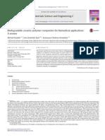 Biodegradable ceramic-polymer composites for biomedical applications