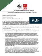 déclaration liminaire des délégations CGC et CGT à la Commission Paritaire Auvergne-Rhône-Alpes